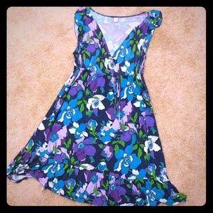 Women's flower print summer dress